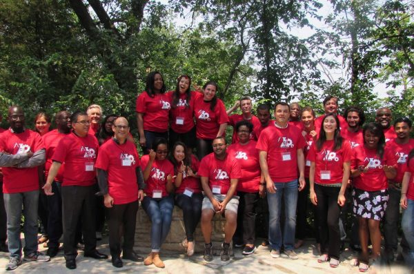 student group in UIC t-shirts